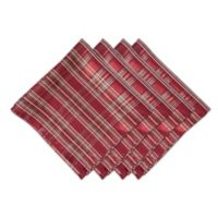 Bardwil Linens Christmas Plaid Napkins (Set of 4)