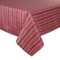 Bardwil Linens Christmas Plaid 60-Inch x 120-Inch Oblong Tablecloth