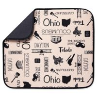 Schroeder & Tremayne The Original™ Dish Drying Mat with Ohio Print in Tan