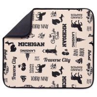Schroeder & Tremayne The Original™ Dish Drying Mat with Michigan Print in Tan