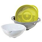 OGGI™ 3-Piece Nested Colander in Multi