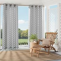 Parasol St. Kitts 84-Inch Indoor/Outdoor Grommet Top Window Curtain Panel in Smoke