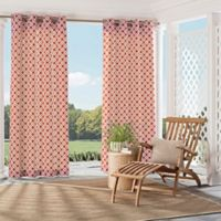 Parasol St. Kitts 95-Inch Indoor/Outdoor Grommet Top Window Curtain Panel in Cinnibar