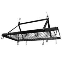 Range Kleen® 34-Inch Rectangular Hanging Pot Rack in Black