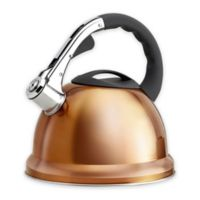 Epicurious 2.85 qt. Stainless Steel Whistling Tea Kettle in Copper