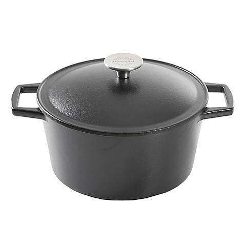 image of Artisanal Kitchen Supply® Pre-Seasoned Cast Iron 3.5 qt. Dutch Oven in Black