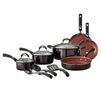 Tramontina® Style Aluminum 12-Piece Nonstick Cookware Set in Black Cherry