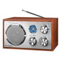 Victrola™ FM Bluetooth Desktop Radio in Mahogany