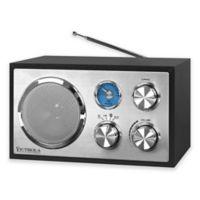 Victrola™ FM Bluetooth Desktop Radio in Black