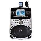 Karaoke USA Portable MP3 Karaoke Player with Screen in Silver