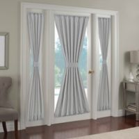 Paradise 72-Inch Rod Pocket Side Light Door Curtain Panel in Silver