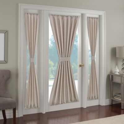 Paradise 72 Inch Rod Pocket Door Curtain Panel In Ivory
