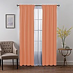 SmartBlock™ Chroma 84-Inch Rod Pocket Blackout Window Curtain Panel in Coral