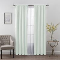 SmartBlock™ Chroma 84-Inch Rod Pocket Blackout Window Curtain Panel in Spa