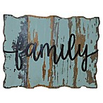 "Sweet Bird & Co. Reclaimed Wood ""Family"" 8-Inch x 6-Inch Wall Art"