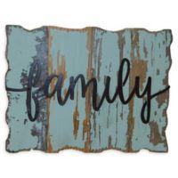 "Sweet Bird & Co. Reclaimed Wood ""Family"" 8-Inch x 6-Inch Wall Art"