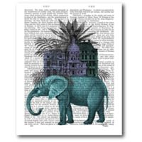 Courtside Market Elephant Citadel 16-Inch x 20-Inch Canvas Wall Art