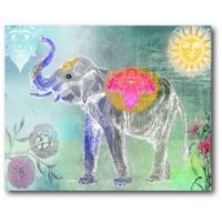 Courtside Market Cool Elephant 20-Inch x 16-Inch Canvas Wall Art