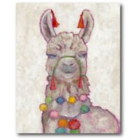 Courtside Market Festival Llama 16-Inch x 20-Inch Canvas Wall Art
