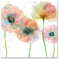 Courtside Market Contemporary Flowers I 16-Inch Square Canvas Wall Art