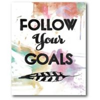 Courtside Market Follow Your Goals 16-Inch x 20-inch Canvas Wall Art