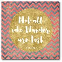 Courtside Market Wander Lost 16-Inch Square Canvas Wall Art