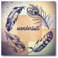 Courtside Market Feathered Wanderlust 16-Inch Square Canvas Wall Art