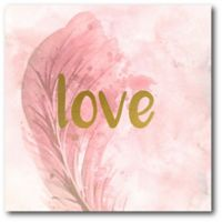 "Courtside Market Feathered ""Love"" 16-Inch Square Canvas Wall Art"