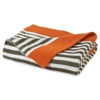 VCNY Home Stripe Throw Blanket in Orange