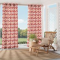 Parasol Barbados 84-inch Grommet Top Indoor/Outdoor Window Curtain Panel in Spice