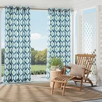 Parasol Barbados 95-inch Grommet Top Indoor/Outdoor Window Curtain Panel in Indigo