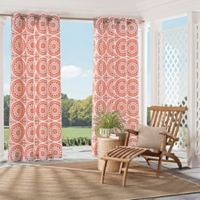 Parasol Cayman 84-Inch Indoor/Outdoor Grommet Top Window Curtain Panel in Spice