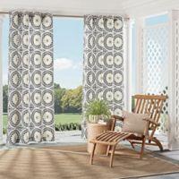 Parasol Cayman 84-Inch Indoor/Outdoor Grommet Top Window Curtain Panel in Black