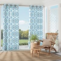 Parasol Cayman 95-Inch Indoor/Outdoor Grommet Top Window Curtain Panel in Aqua