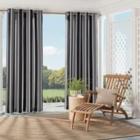 Parasol Coco Bay 95-Inch Indoor/Outdoor Grommet Top Window Curtain Panel in Black