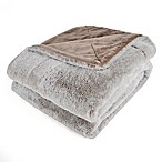 Berkshire Blanket Grace Tipped Faux Fur Throw in Mocha