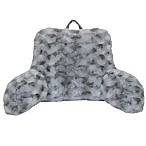 Crystal Plush Backrest in Grey