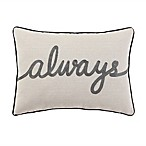 Always  Throw Pillow in Grey