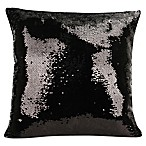 Shimmer Square Throw Pillow in Black