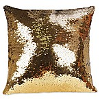 Shimmer Square Throw Pillow in Gold