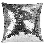 Shimmer Square Throw Pillow in White