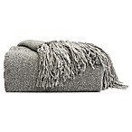 Chenille Luxury Heavyweight Hanging Throw Blanket in Grey