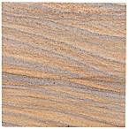 Thirstystone® Rainbow Sandstone Single Square Coaster in Brown