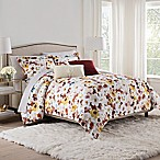 Isaac Mizrahi Home Addie Queen Comforter Set in Burgundy/White