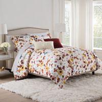 Isaac Mizrahi Home Addie Queen Comforter Set in Burgundy/White