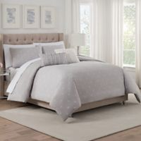 Isaac Mizrahi Home Whitby King Comforter Set in Grey