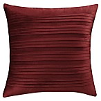 Isaac Mizrahi Home Addie Velvet Square Throw Pillow in Burgundy