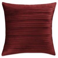 Isaac Mizrahi Home Addie Velvet Square Throw Pillow in Burgundy