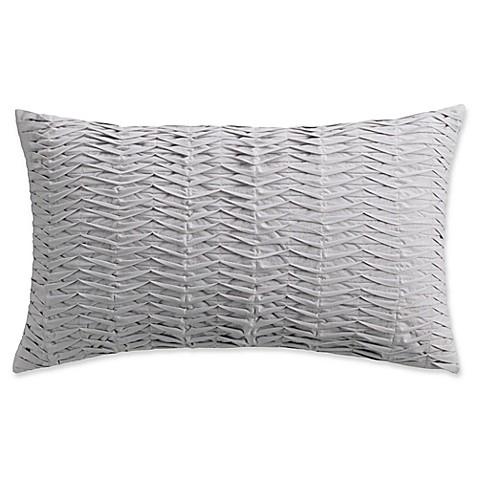 Beau Isaac Mizrahi Home Whitby Oblong Throw Pillow In Grey