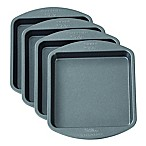 Wilton Easy Layers! 4-Piece Nonstick 4-Inch Square Cake Pan Set
